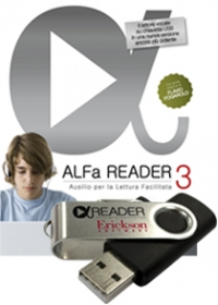 Alfa Reader 3 (KIT: libro + chiavetta USB 8 GB + 3 nuove voci Vocalizer)