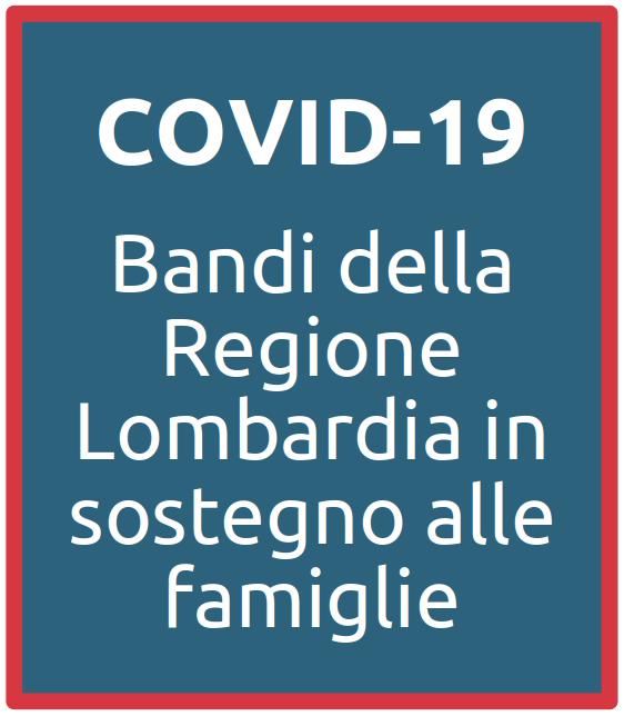 pulsante bandi regione lombardia per covid-19